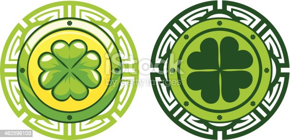 Saint Patrick`s day lucky clower sign in two variants.