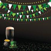 Saint Patricks Day dark beer party background