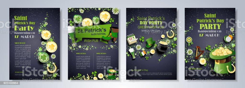 Dépliant de jour de Saint Patrick dépliant de jour de saint patrick vecteurs libres de droits et plus d'images vectorielles de abstrait libre de droits