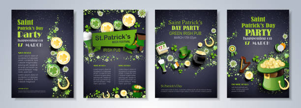 Saint Patrick's Day flyer vector art illustration