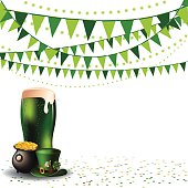 Saint Patricks Day green beer party background