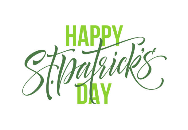 Saint Patrick's Day greeting lettering design element. Vector Illustration vector art illustration