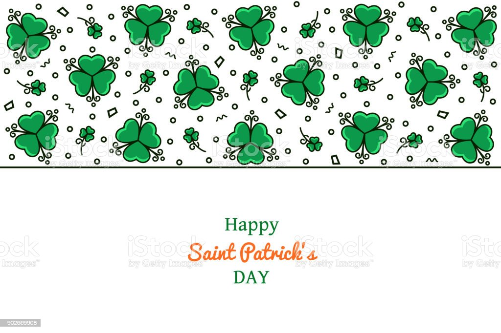 St Patricks Day Horizontale Banner Hintergrund Header Flyer Mit ...