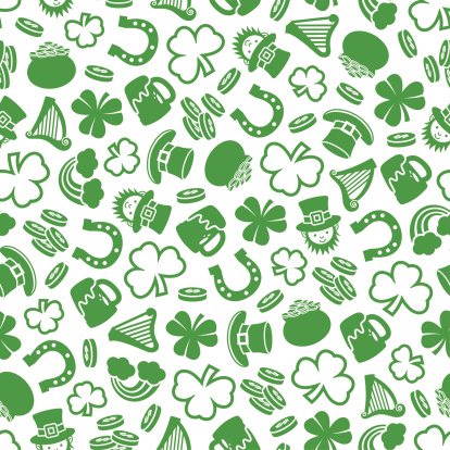 Saint patrick's Day - One Color Seamless Pattern