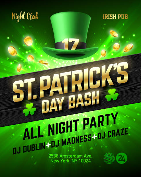 Best St Patricks Day Party Illustrations, Royalty-Free Vector