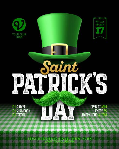 聖パトリックの日パーティーお祝いポスター デザイン - 聖パトリックの祝日点のイラスト素材/クリップアート素材/マンガ素材/アイコン素材