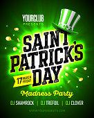 Saint Patrick's Day party celebration poster design