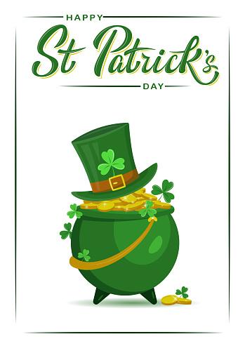 Saint Patrick's Day party flyer, brochure, holiday invitation, corporate celebration.