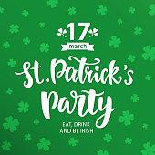 Saint Patrick's Day Party invitation poster