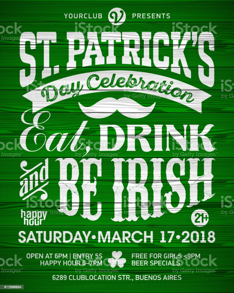 Saint Patrick's Day poster vector art illustration
