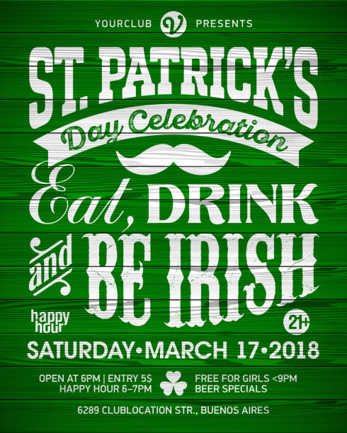 Saint Patrick's Day poster vector art illustration