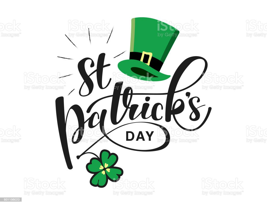Saint Patrick's day sign vector art illustration