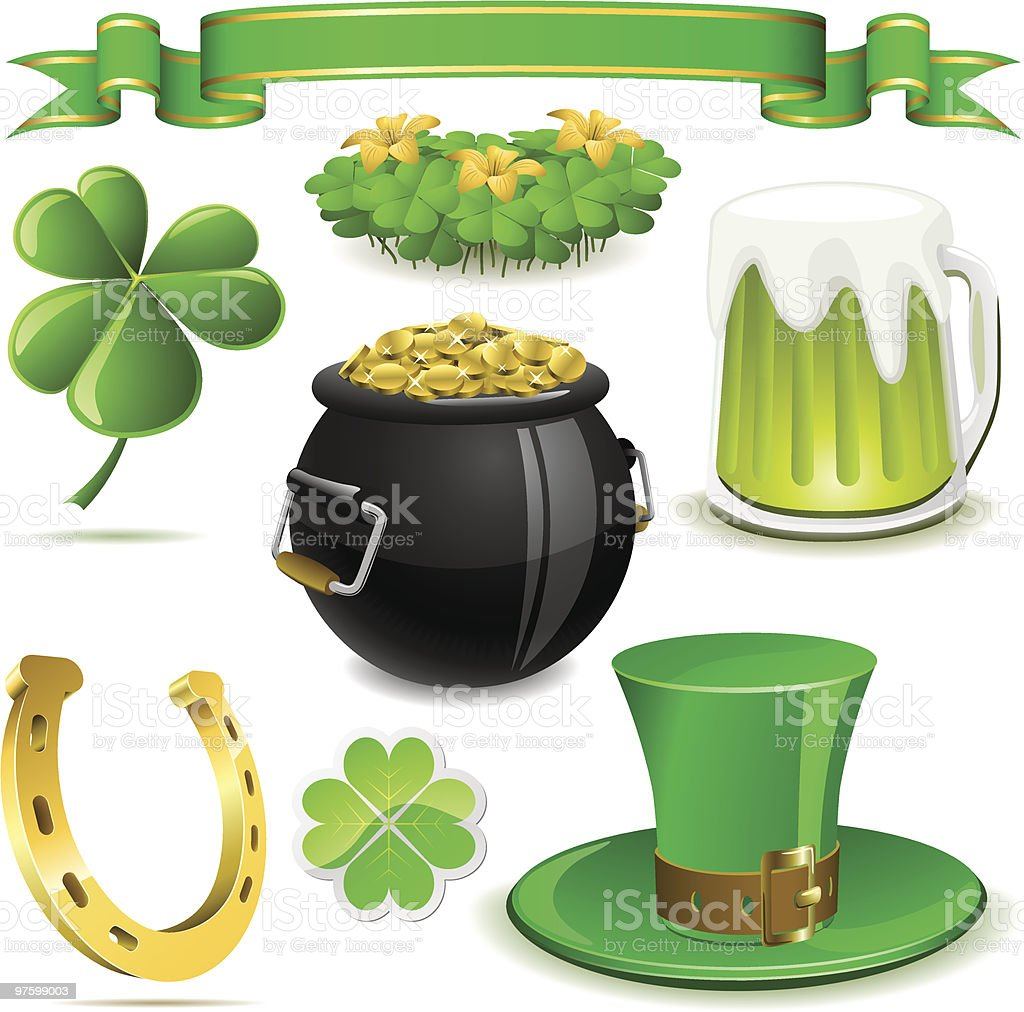 Saint Patrick's Day symbols royalty-free saint patricks day symbols stock vector art & more images of black color