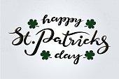 Saint Patrick's Day typography lettering poster. St.Patricks Day celebration design background, vector illustration. Hand sketched St.Patricks Day lettering. Beer festival template, decoration badge.