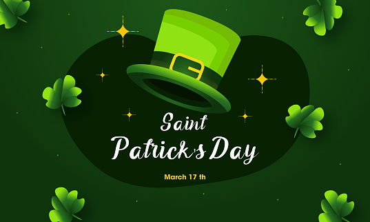 Saint Patrick's Day with hat vector stock illustration