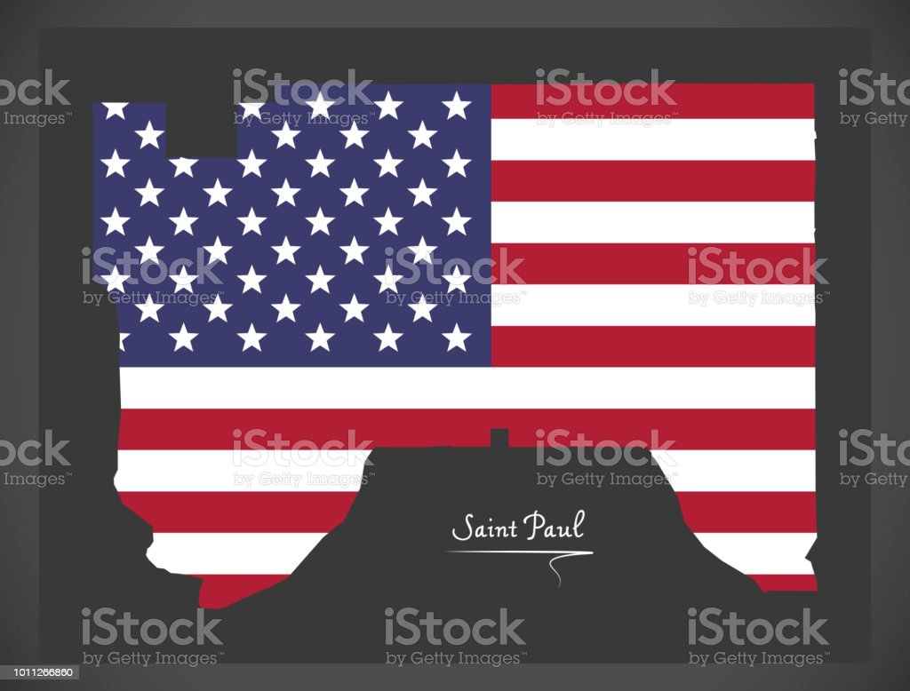 Saint Paul Minnesota Map With American National Flag ... on hibbing minnesota on map, crookston minnesota on map, saint louis missouri on map, lakeville minnesota on map, saint paul minnesota christmas, roseville minnesota on map, ely minnesota on map, champlin minnesota on map, mankato minnesota on map, oakdale minnesota on map, minneapolis minnesota on map, moorhead minnesota on map, pipestone minnesota on map, bloomington minnesota on map, rosemount minnesota on map, brainerd minnesota on map, rochester minnesota on map, buffalo minnesota on map, new hope minnesota on map, duluth minnesota on map,