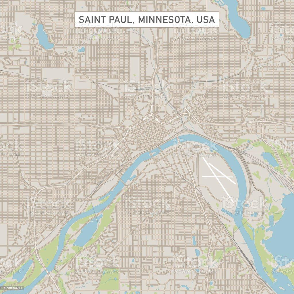 Saint Paul Minnesota Us City Street Map Stock Vector Art & More ...