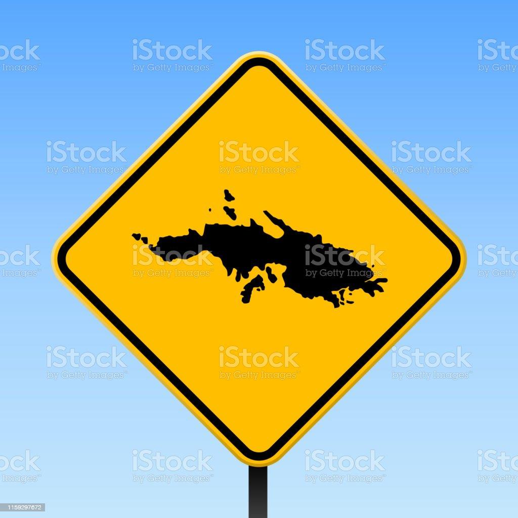 Saint Thomas Map On Road Sign Stock Illustration - Download ...