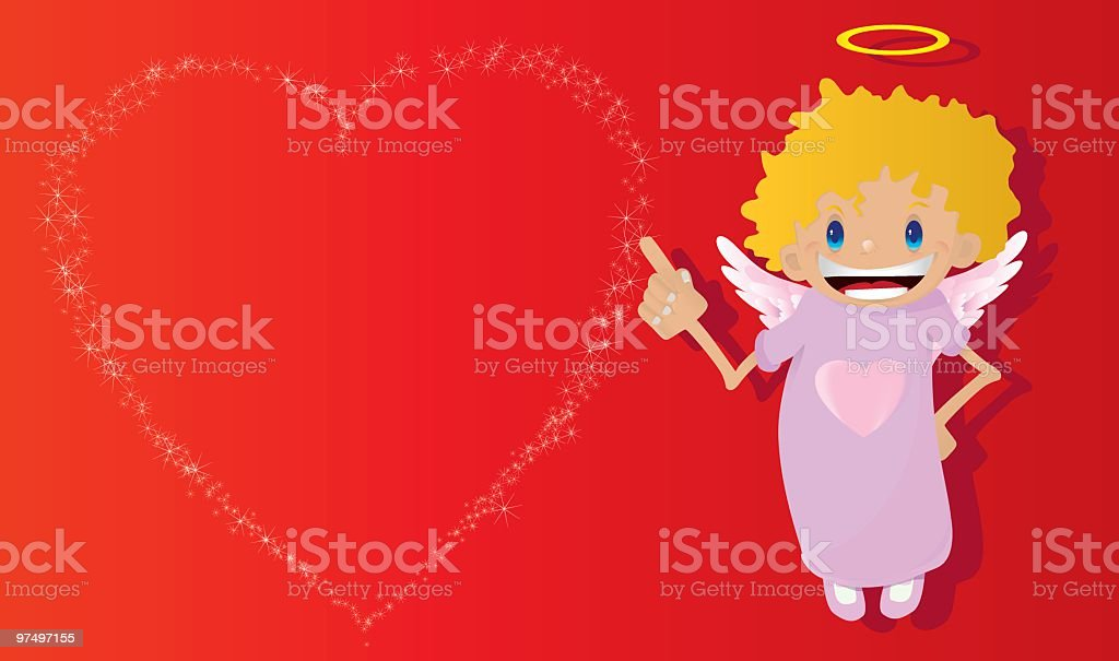 saint valentine's card royalty-free saint valentines card stock vector art & more images of angel