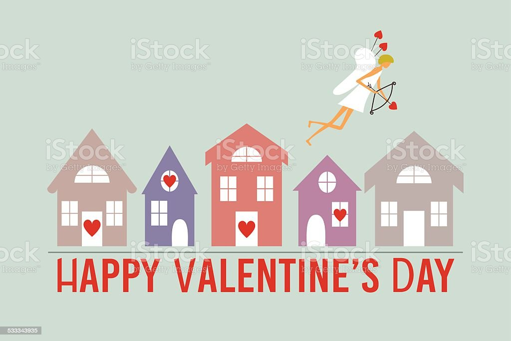 saint valentines day greeting card royalty free stock vector art - Valentine Real Estate