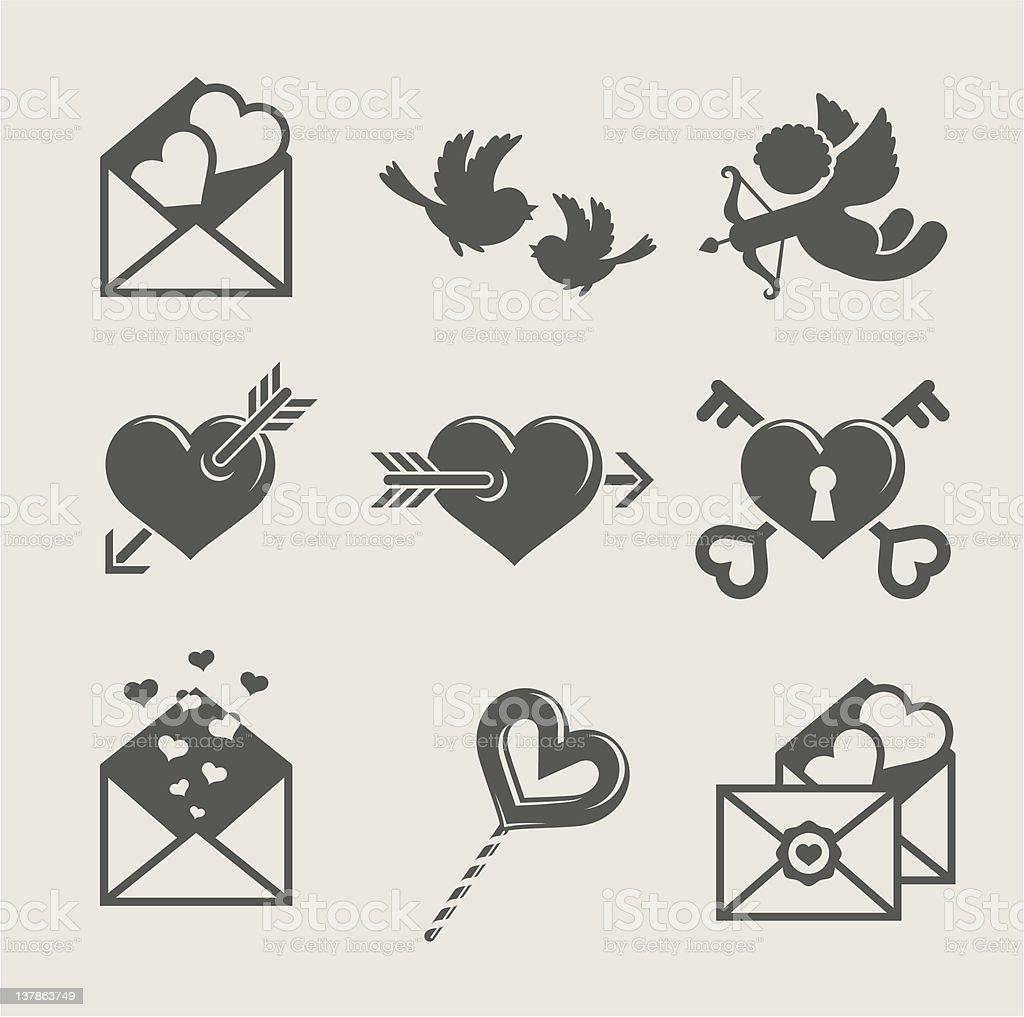 saint valentine's day set icon royalty-free saint valentines day set icon stock vector art & more images of celebration
