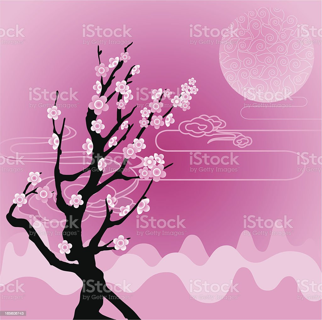 Sakura / Cherry Blossom royalty-free stock vector art