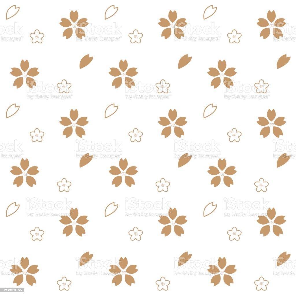 さくら花パターン 和風の背景の壁紙 イラストレーションのベクター
