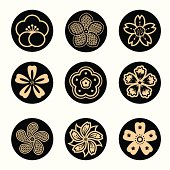 different style of sakura graphic elements.
