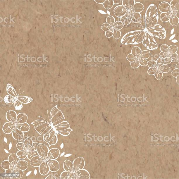 Sakura flowers and butterflies spring illustration with place for on vector id949386520?b=1&k=6&m=949386520&s=612x612&h=a7cwydw8n ebylh9orpxsyldyezadlyrqrzvp3rakeq=