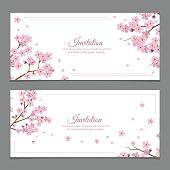 Sakura Flowers Invitation Cards