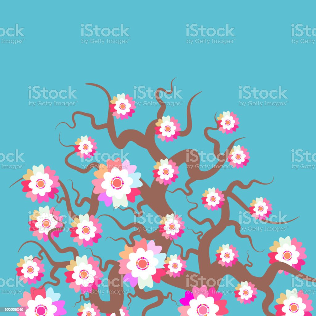 Sakura Nature Background With Blossom Branch Of Pink Flowers Cherry