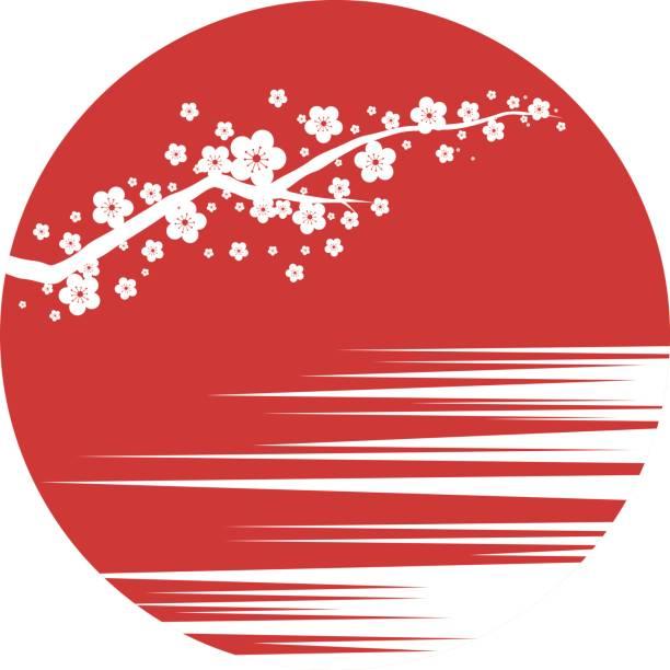 ilustraciones, imágenes clip art, dibujos animados e iconos de stock de sakura.   - bandera japonesa