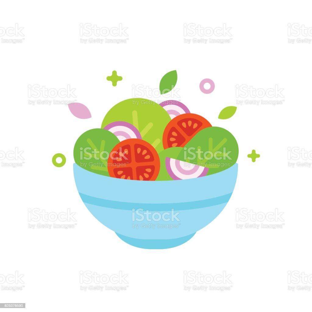 Ilustração de tigela de salada - ilustração de arte em vetor