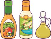 Bottles of Salad dressing. CS2, eps 8, & high res JPEG included. Please see my lightboxes for other food illustrations!