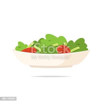 istock Salad icon vector isolated 984186952