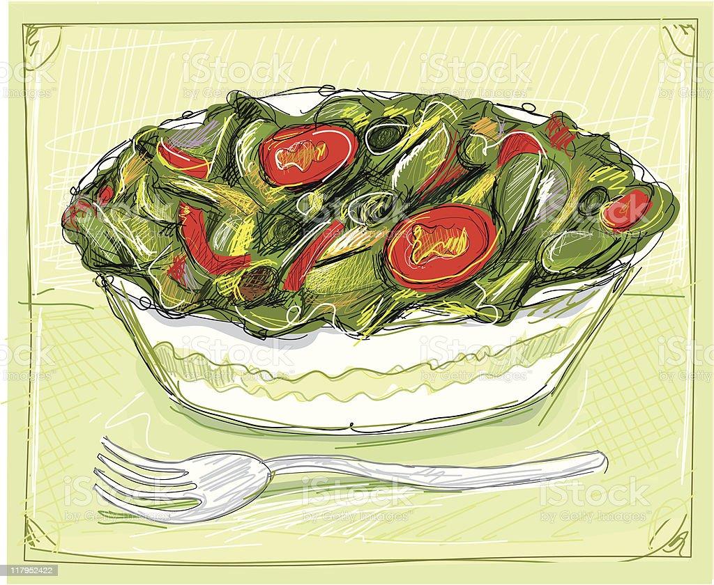 salad illu royalty-free stock vector art