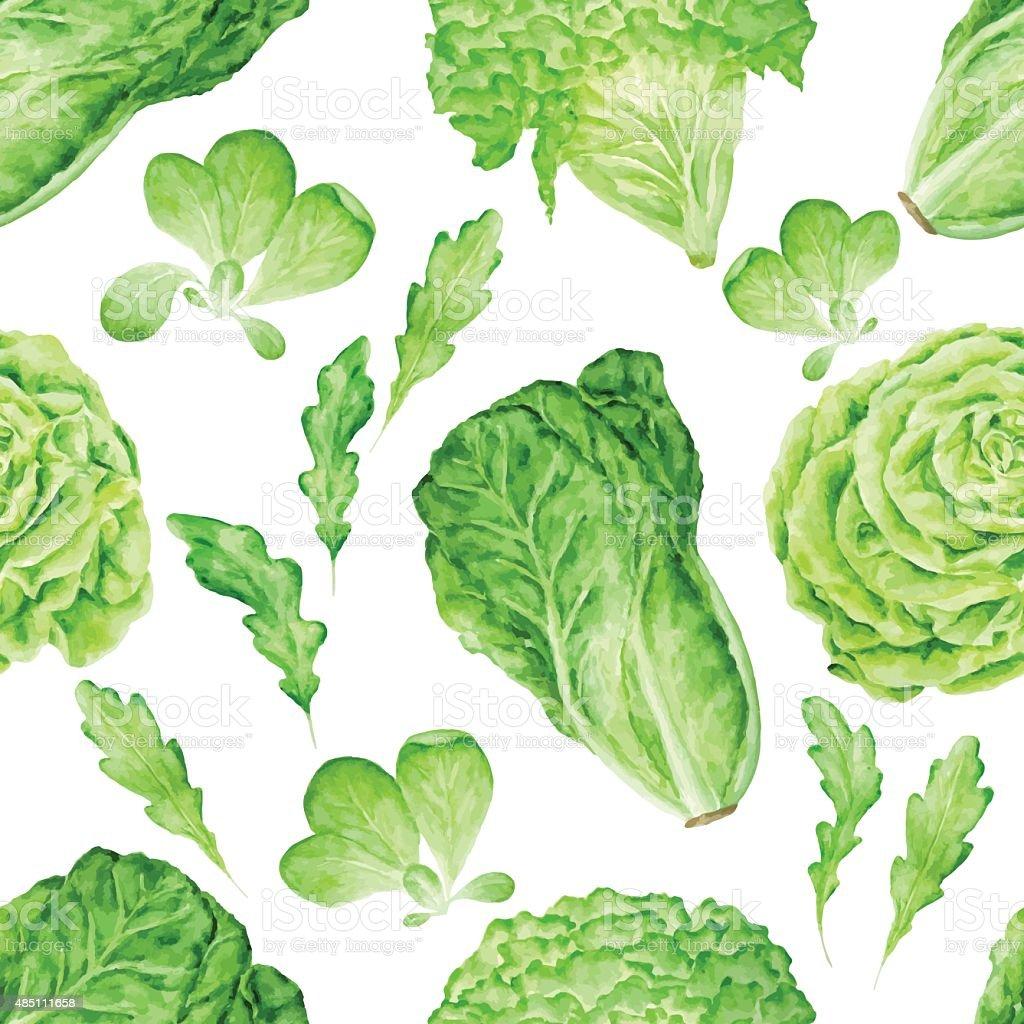 salad seamless pattern vector art illustration