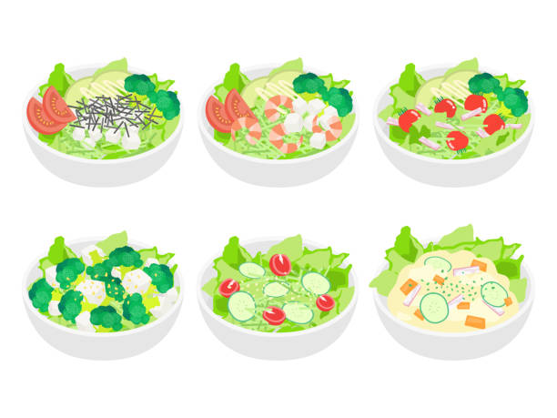 salad - cherry tomato stock illustrations