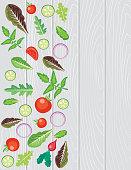 Fresh veggies frame