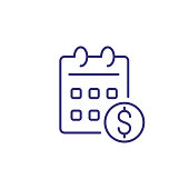Salary day line icon