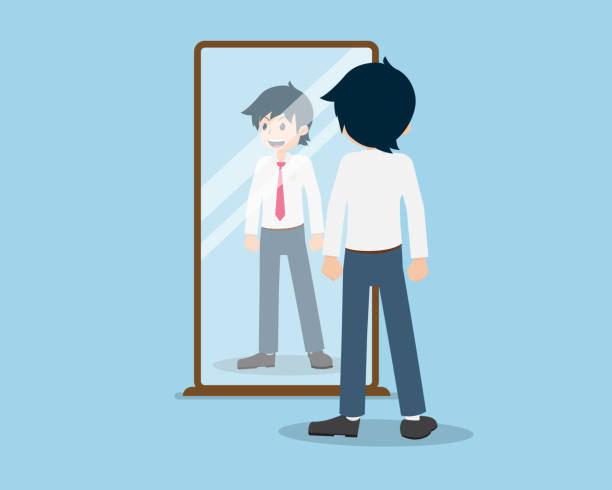 Best Doctor Looking In Mirror Illustrations, Royalty-Free Vector