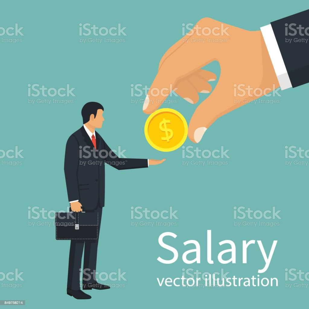 Salary time vector vector art illustration