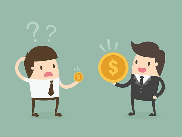 salary variation. - wealth stock illustrations, clip art, cartoons, & icons