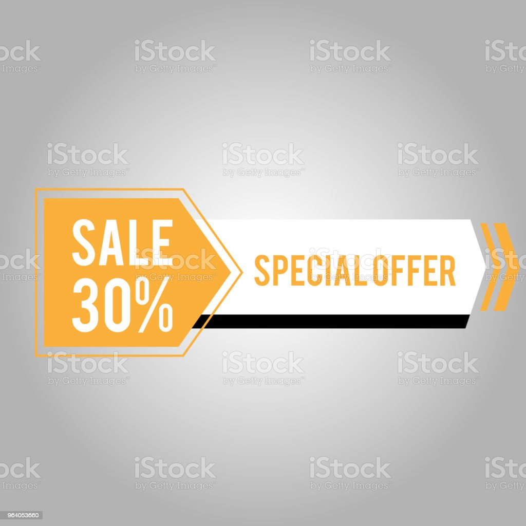 Sale 30% Special Offer Modern Arrow Design Vector Image - Royalty-free Advertisement stock vector