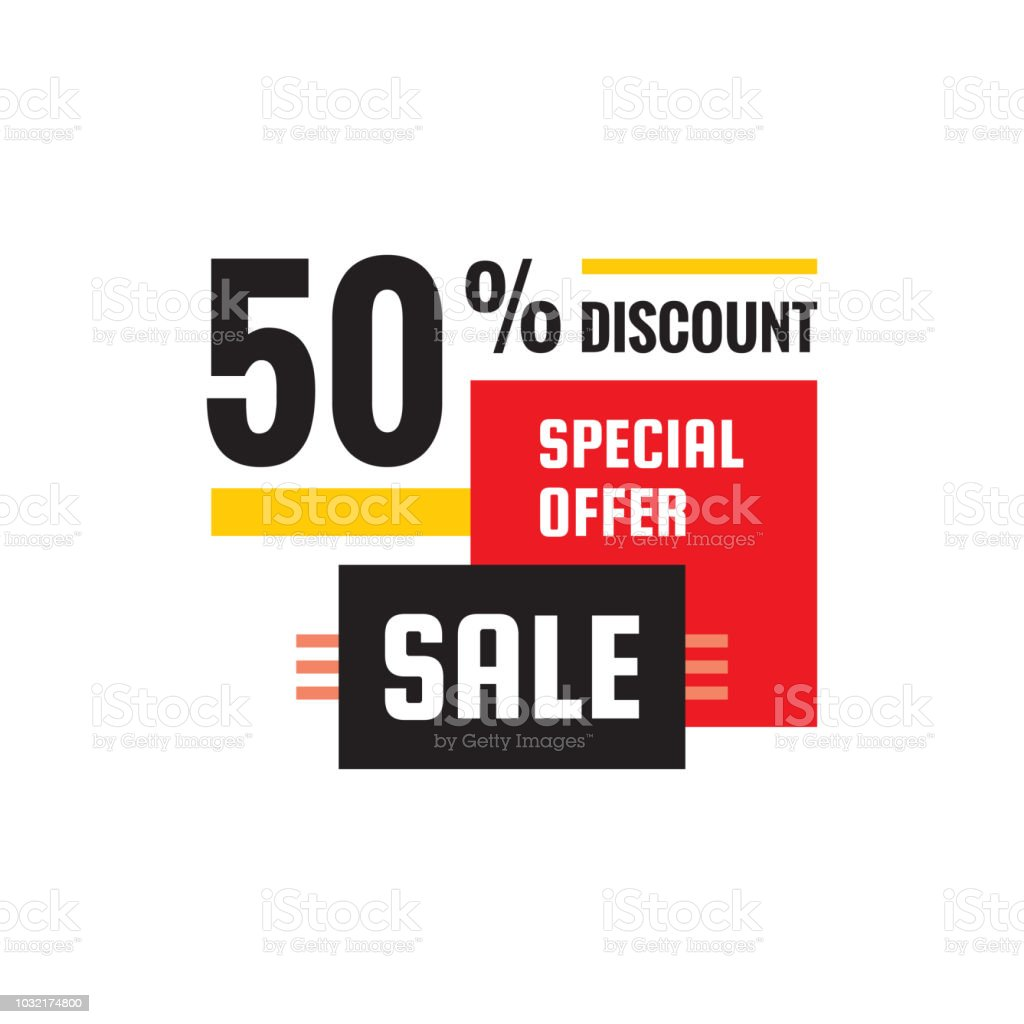 Sale 50 Discount Special Offer Promotion Vector Banner Concept Decorative Geometric Layout Abstract Graphic Design Creative Poster Stock Illustration Download Image Now Istock