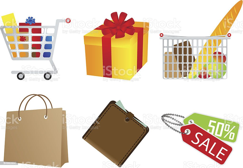 Sale and shopping icon royalty-free sale and shopping icon stock vector art & more images of badge