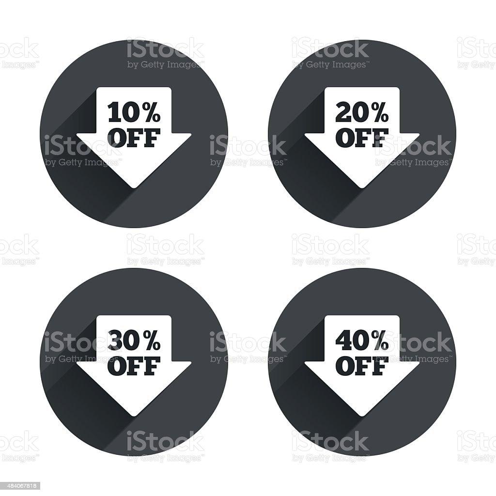 Sale Arrow Tag Icons Discount Off Symbols Stock Vector Art & More ...