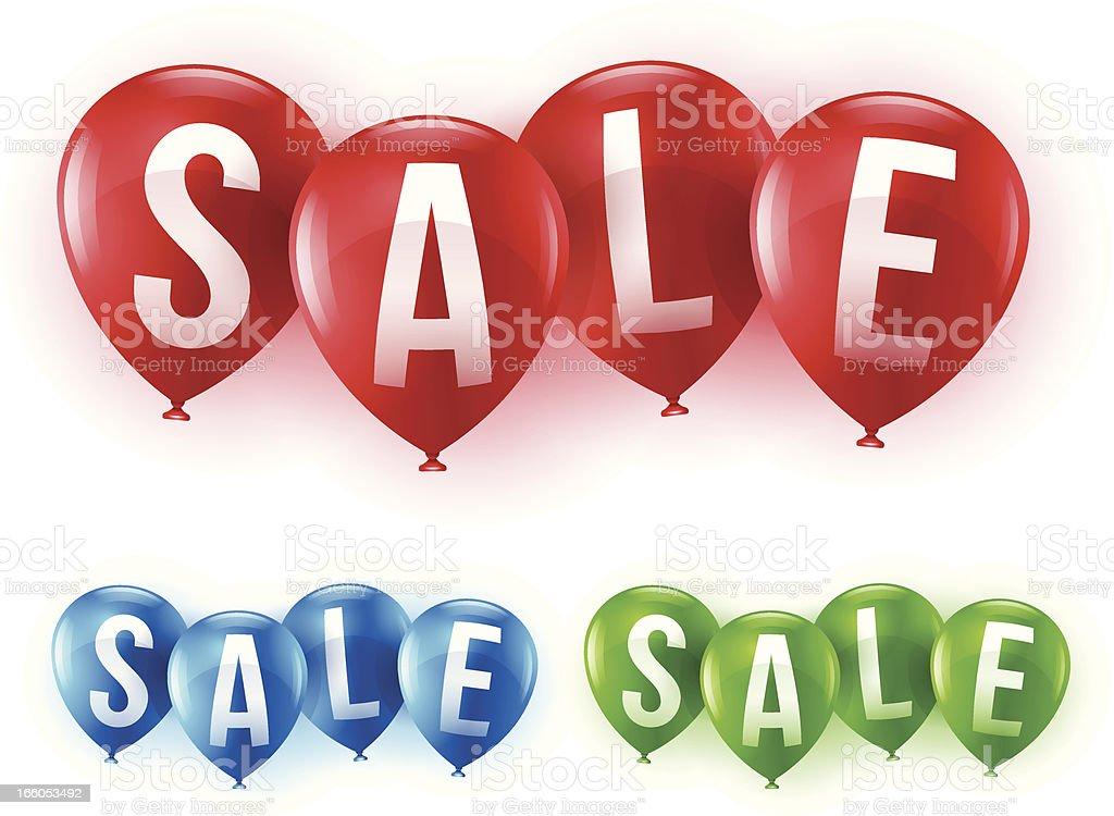 Sale Balloons vector art illustration