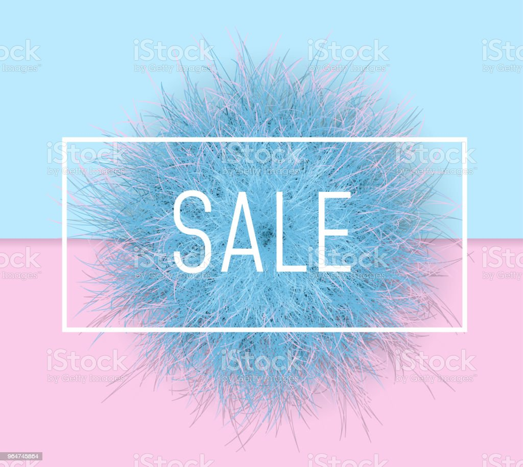 Sale banner background. 3d Fluffy fur ball royalty-free sale banner background 3d fluffy fur ball stock vector art & more images of animal hair