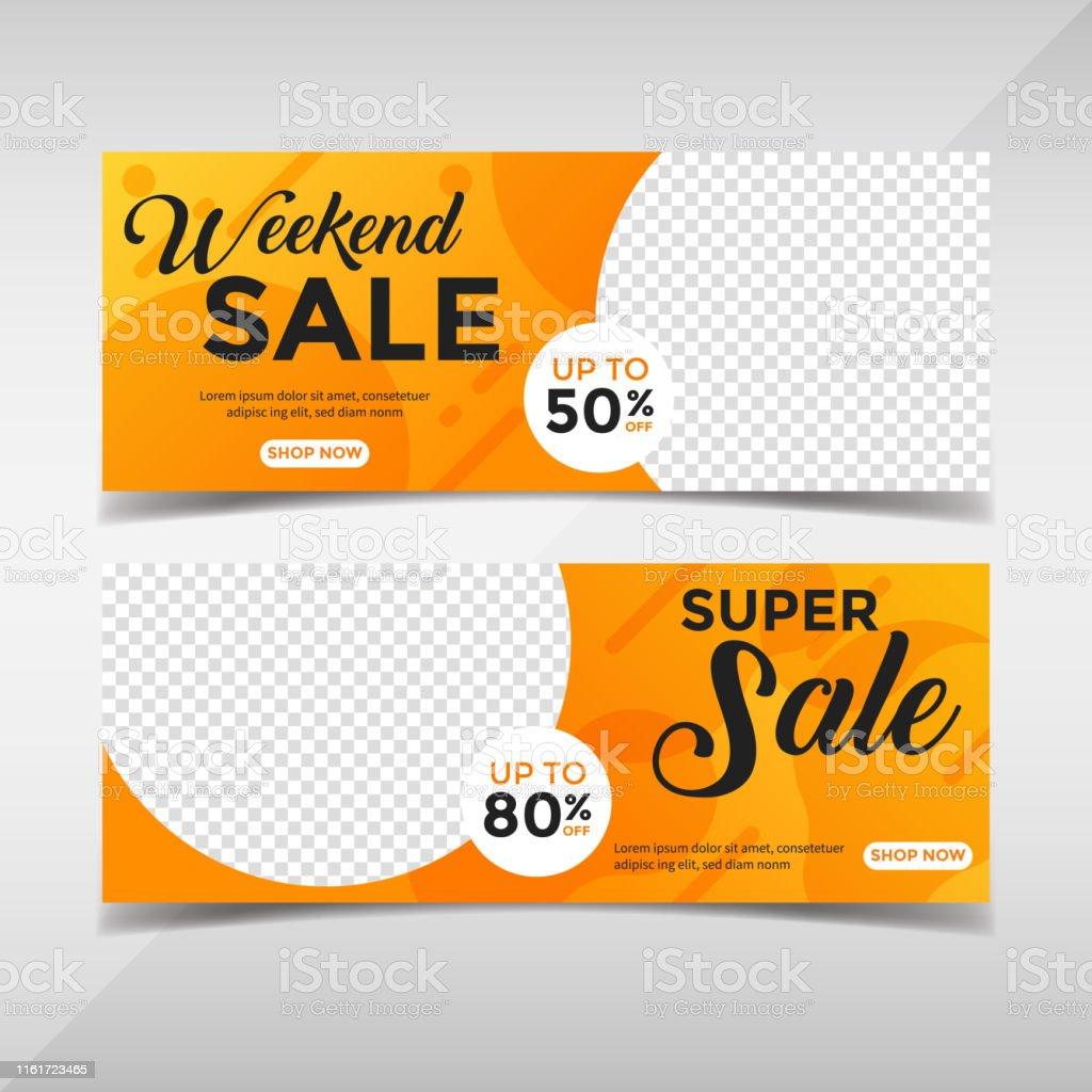 Creative fashion sale horizontal banners
